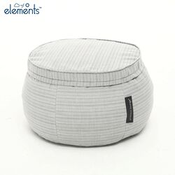 white bean bag ottoman table