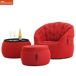 crimson designer sofa set in Sunbrella fabric bean bag by Ambient Lounge