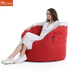 red crimson butterfly sunbrella fabric bean bag