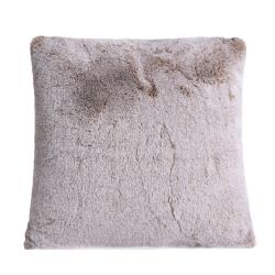 1150gm deluxe cappuccino faux fur cushion by ambient lounge