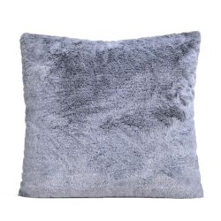 550gm sensory grey deluxe faux fur cushion by ambient lounge