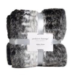 1150gm deluxe animal print faux fur throw by ambient lounge