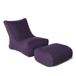 violet designer sofa set in Sunbrella fabric bean bag by Ambient Lounge