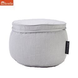grey ottoman, outdoor ottoman, waterproof